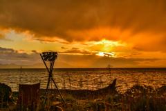 去年のサロマ湖光芒(再投稿)