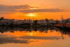 上越の夕日