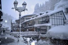 冬の銀山温泉5