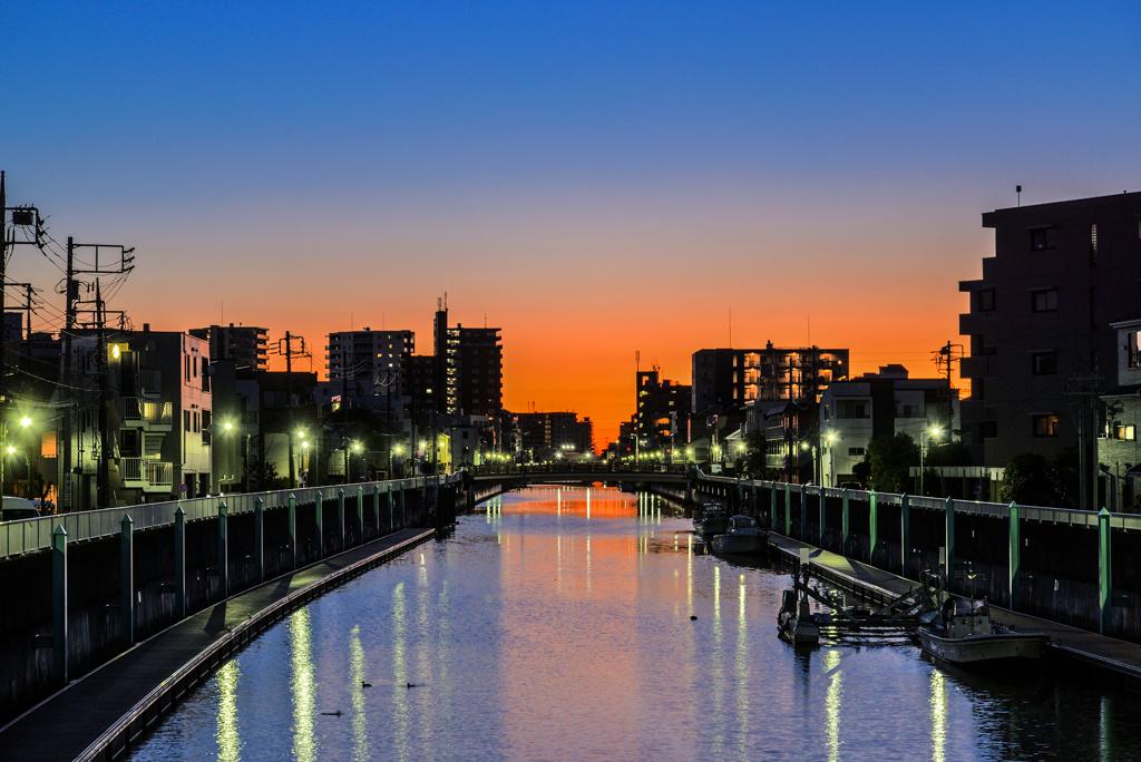 夜明けの呑川