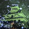 長浜城雪景色