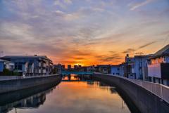 呑川の夜明け再び3