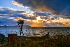 去年のサロマ湖夕景(再投稿)