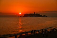江ノ島の夕日2