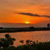 多摩川の夕焼け2