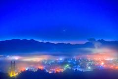 二年前の秩父雲海夜景