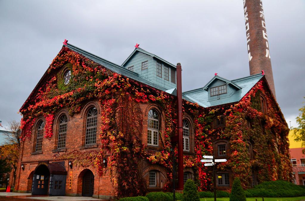 秋を纏ったビール園