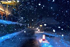かやぶきの里雪灯廊4