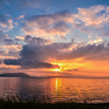 六年前のサロマ湖夕景