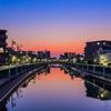 呑川の夜明け2
