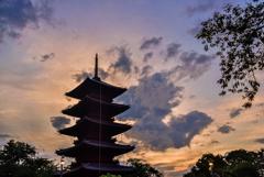 五重塔夕景2