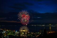 諏訪湖の花火(速報版)