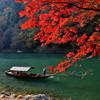 嵐山の渡し舟
