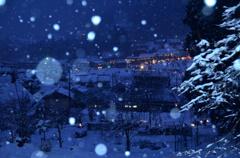 美山の黄昏