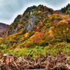 秋山郷 布岩の紅葉