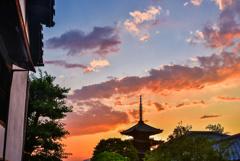 京都東山夕景