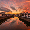 呑川の夕焼け2