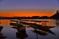 嵐山の夜明け