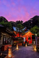 江の島夕景2