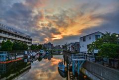 吞川の夜明け
