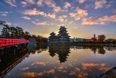 松本城の夜明け2