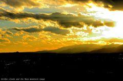 Golden clouds and the Nasu mountain rang