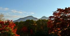 五色沼から観る磐梯山