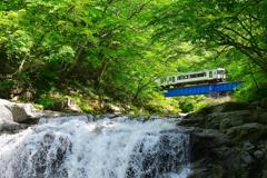 磐越東線 ~ 新緑の夏井川渓谷大滝 ~