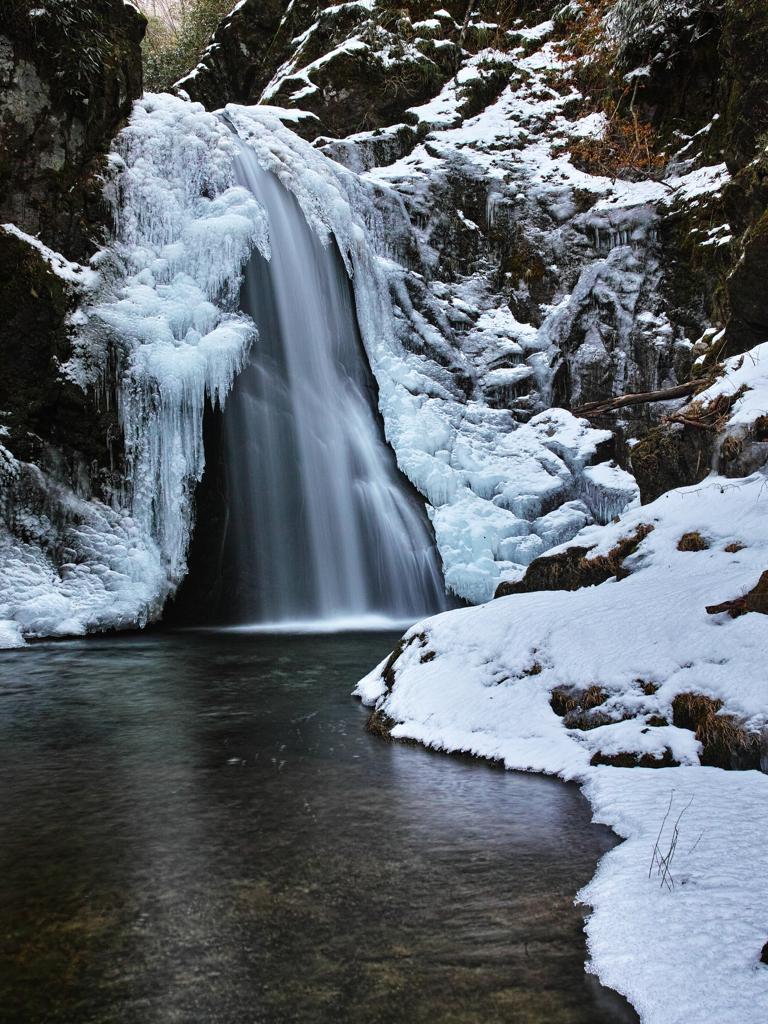 厳冬三連滝 2