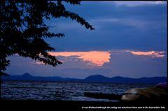 猪苗代湖の夏 五 ~微妙な夕景~