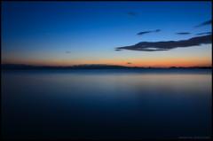 志田浜の静かな夕暮れ