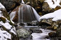 終冬の渓 ~三日月滝~
