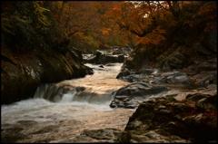 暮れ泥む渓谷の彩