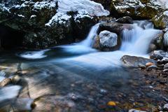 三日月下の小滝