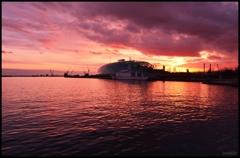 小名浜港の静かな夕暮れ