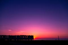 夕陽にCHU