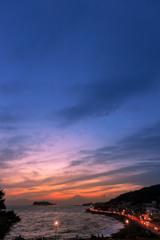 富士百景の夕暮れ
