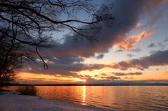 黄金色の湖