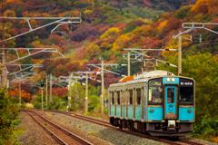 秋景色の青鉄 III