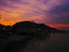 漁港の夜明けⅡ