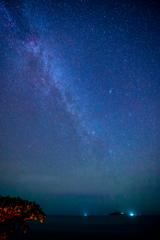 大神島と天の川