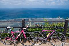 自転車で岬から
