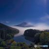 月光下富士