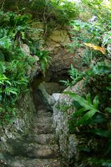 井戸へ続く階段