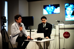 ライカQ発表イベントにて、写真家になったきっかけを語るハービー山口さん