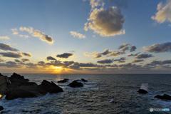 夕暮れの越前岬