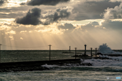 落日・冬の日本海