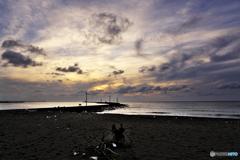 秋の夕暮・日本海