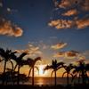 美ら海からの夕日