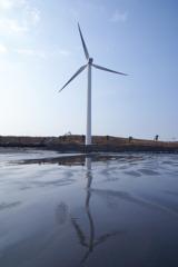 浜風の風車
